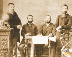 Besir Fuad (Sol Başta ayakta)